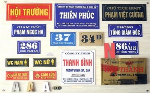 Biển đồng Inox rẻ nhất Hà Nội