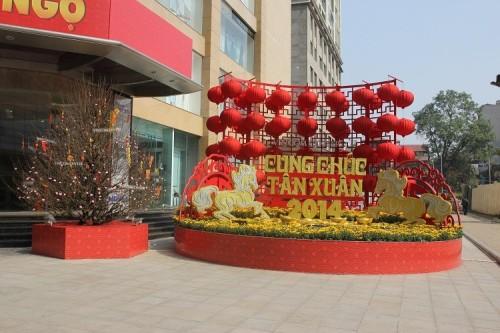 Trang tri tết rẻ tại Hà Nội