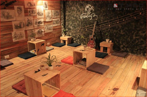 Ốp gỗ quán cafe gỗ đẹp