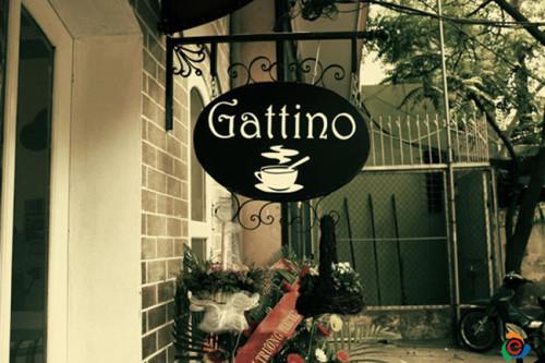 Biển quảng cáo quán cafe Gattino