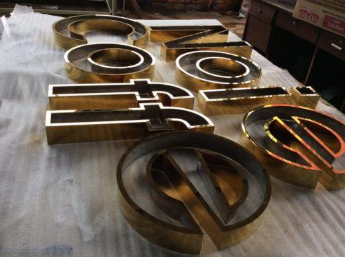 Bộ chữ Inox khoet long đẹp
