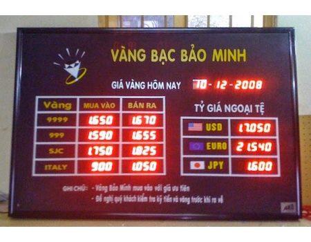 Bảng LED Tỷ Giá Vàng