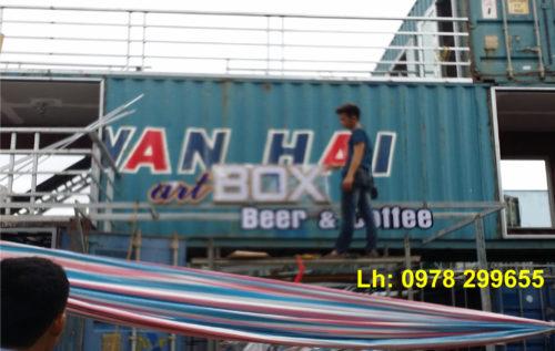 Biển quảng cáo quán cafe Container tại Nam Định