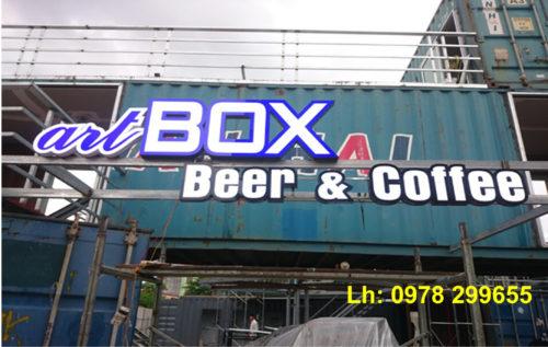 Biển quảng cáo quán Cafe Container đep