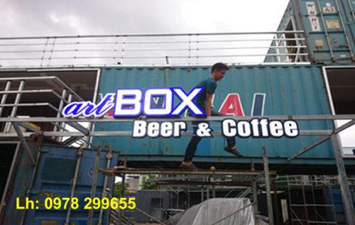 Biển quảng cáo quán cafe Container vip