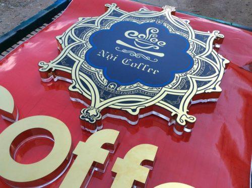 Biển quang cao coffee chữ Inox