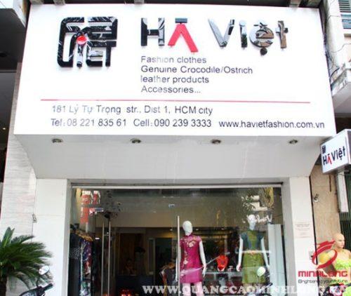 Biển hiệu cửa hàng thời trang Hà Việt