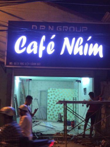 Biển quảng cáo quán cafe Nhím