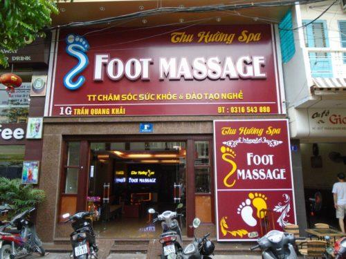 Biển quảng cáo Massger chân