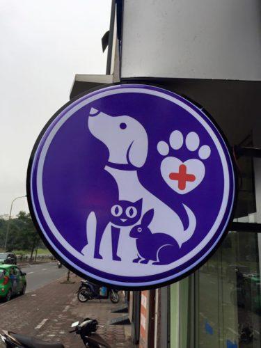 Mẫu biển hiệu phòng khám thú y