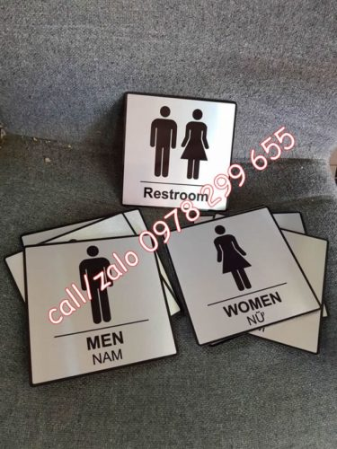 Biển chi dẫn wc, restroom