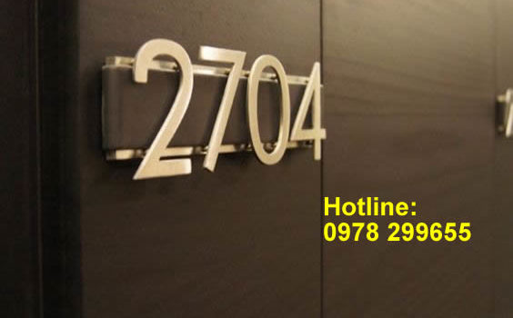 Biển số phòng Hotel, khách sạn