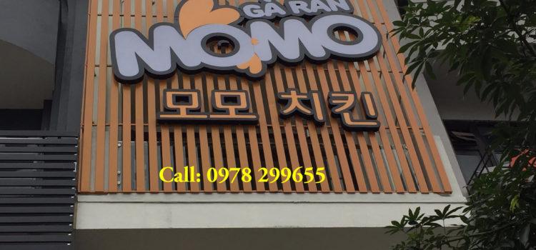 Thi công biển hiệu nhà hàng Hàn Quốc