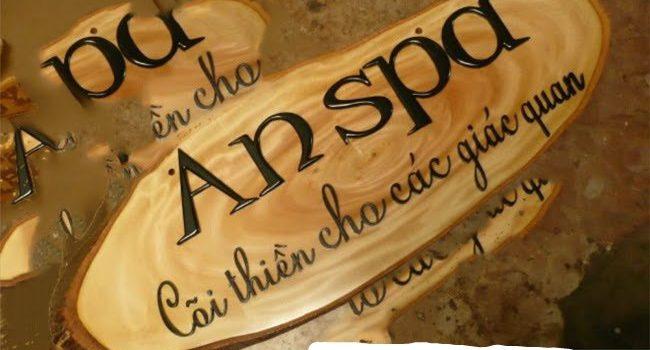 Biển hiệu spa bằng gỗ sang chảnh.