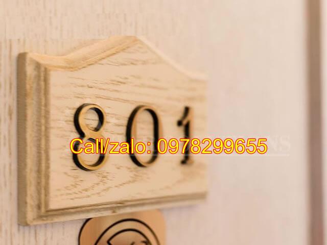 Biển số phòng đẹp gỗ