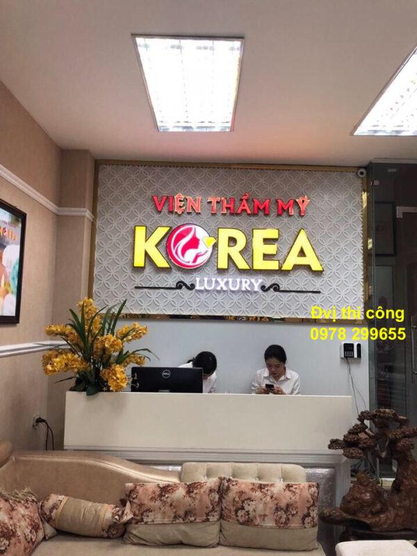Biển quảng cáo viện thẩm mỹ Korea spa