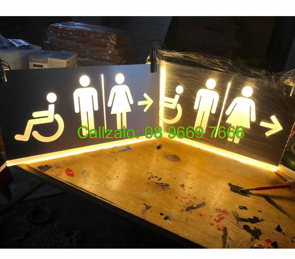 Biển nhà vệ sinh sáng led