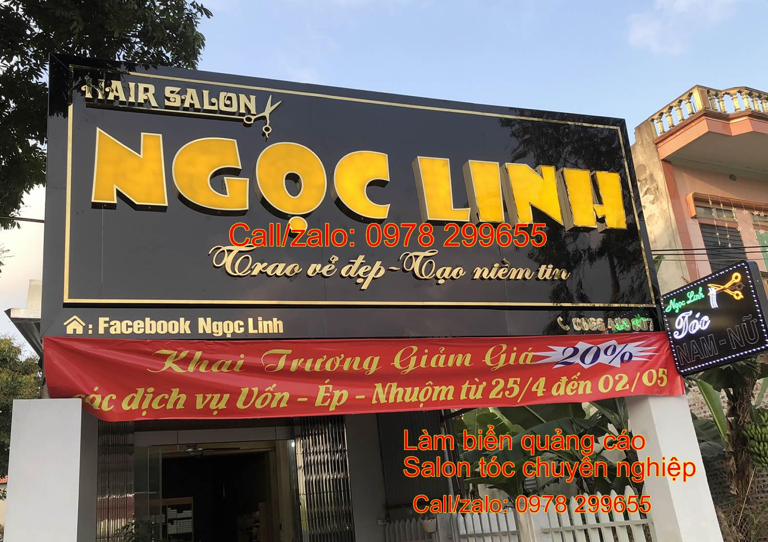 Biển quảng cáo salon tóc xinh