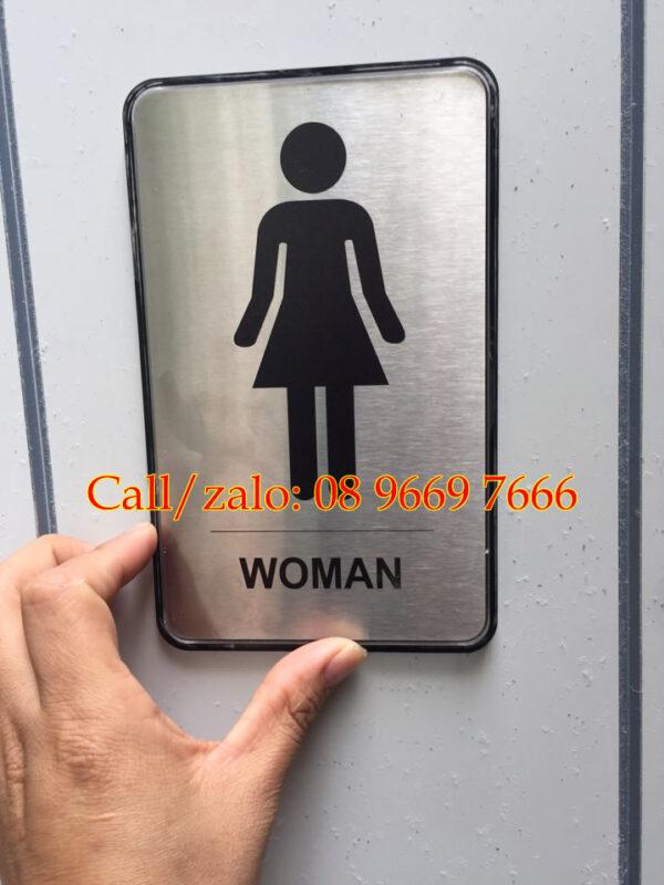 biển nhà vệ sinh nam nữ